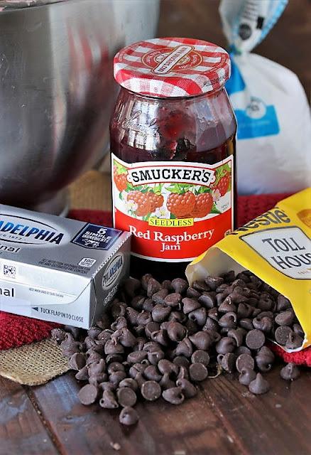 Ingredients to Make Raspberry Truffle Brownies Image