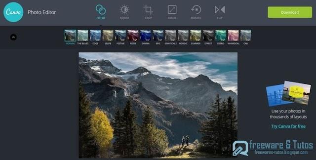 Canva Photo Editor : un outil en ligne d'édition de photos