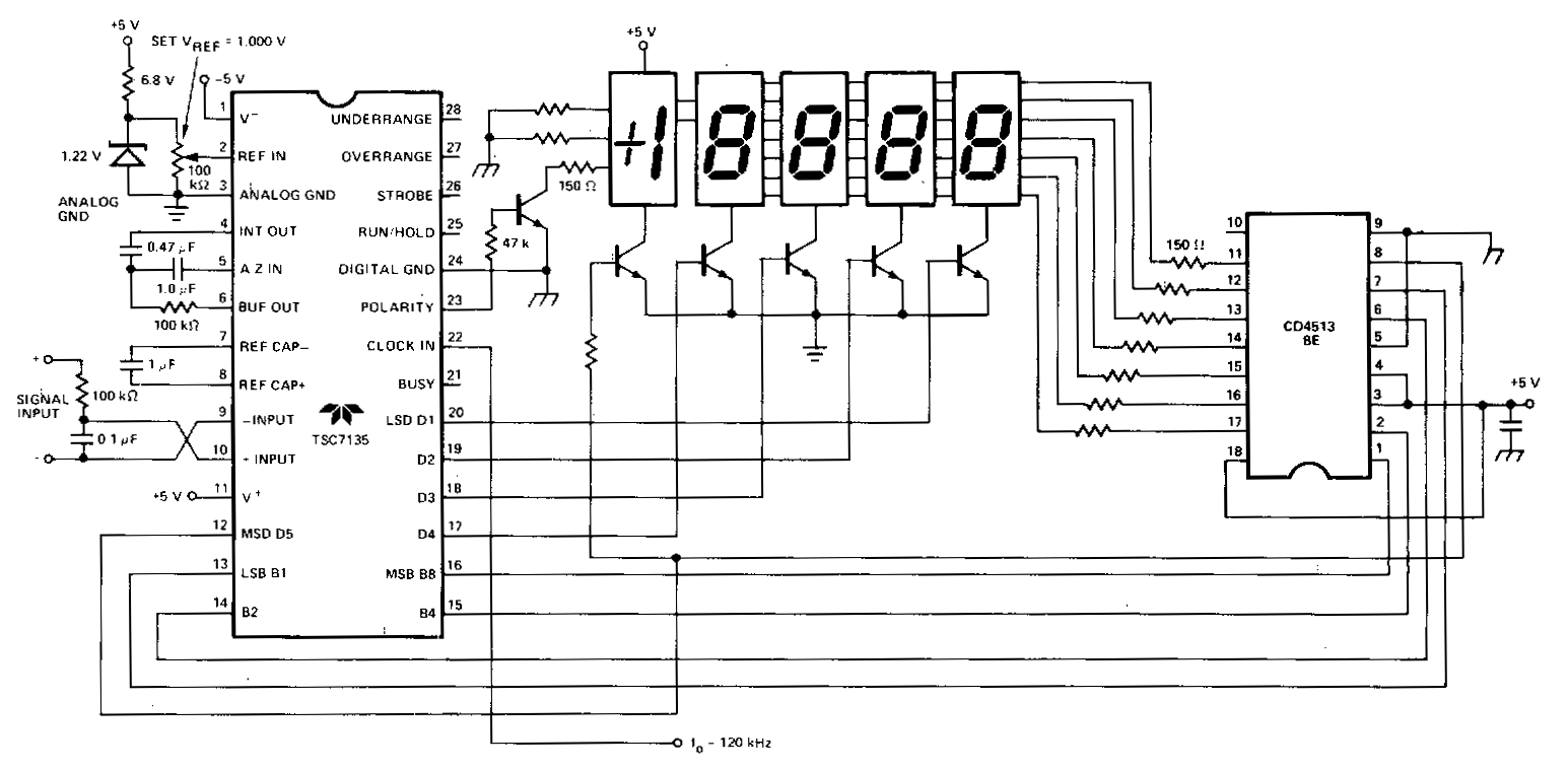 simple cathode led display circuit diagram