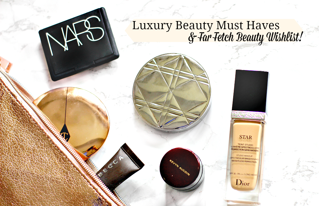 luxury beauty essentials and farfetch beauty wishlist