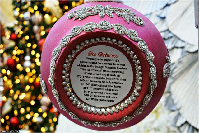 Holiday Glamour 2017 del Hotel Bellagio: Bola de Navidad de la Princesa de Hielo