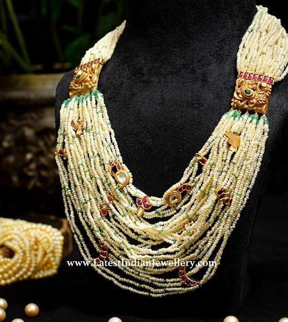 Pearl Beads kundan Mala