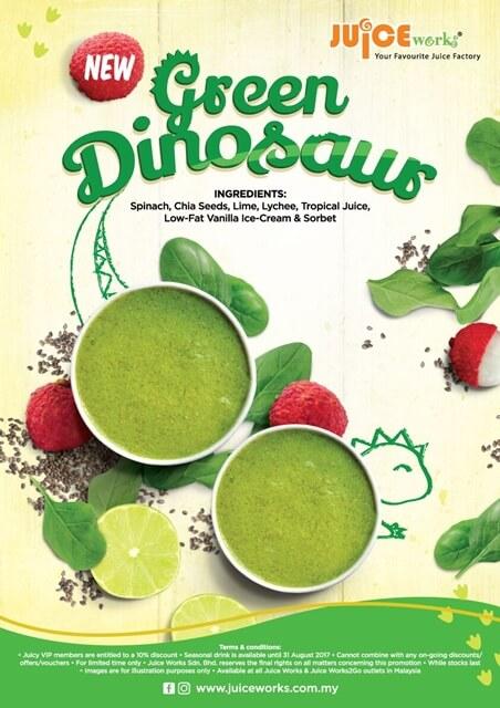 Kalau Benci Makan Sayur, Minum Green Dinosaur Juice Works
