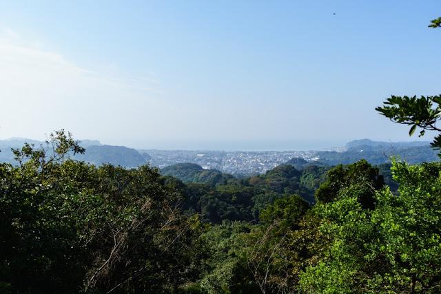 かながわの景勝50選・十王岩からの景色