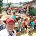 Vereador Evandro Macarrão, prestigiou festinha das crianças, hoje no PSF de Serra do Vento