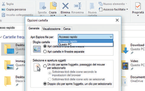 Esplora file, le novità in Windows 10 drag e drop