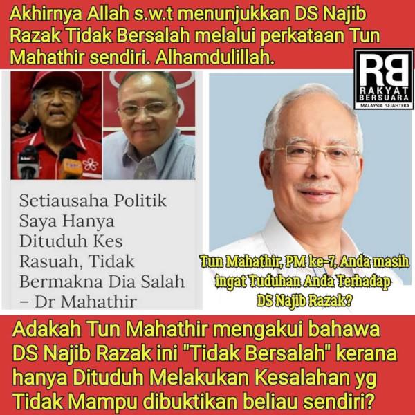 Ironi: Akhirnya tanpa sengaja Mahathir sendiri yang bersihkan nama Najib