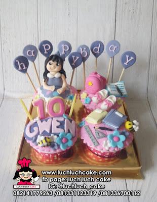 Cupcake Tema Sekolah Untuk Anak Cewek