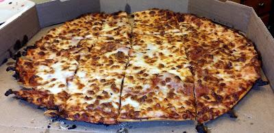 Pizza Quixote Review Domino S Crunchy Thin Crust Pizza