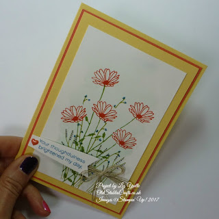 Daisy Delight Bouquet Card using Subtles Colour Family