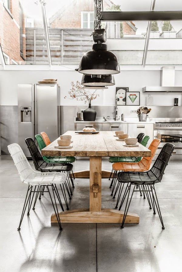 Comedor estilo industrial colores en casa for Diseno estilo industrial