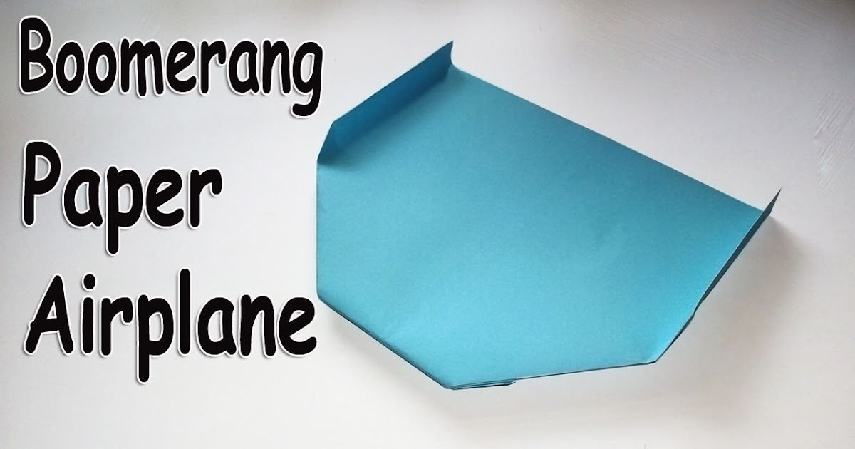 easy paper origami  how to make a boomerang paper airplane