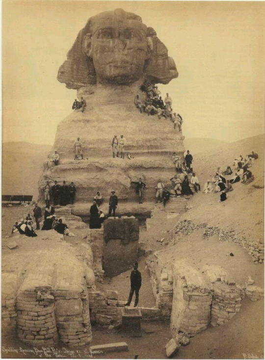 Excavation of the Sphinx, 1850s.