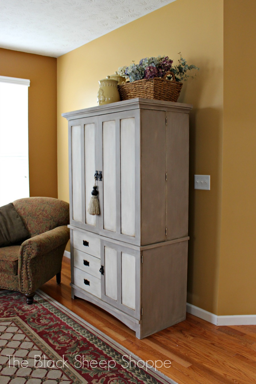 Armoire painted in Coco and Old Ochre chalk paint