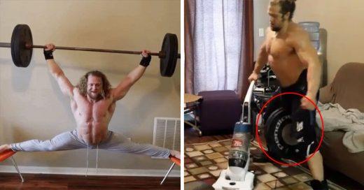 Este tipo hace las más desquiciadas acrobacias de fitness