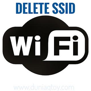 cara hapus daftar wifi