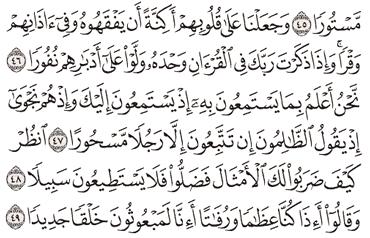 Tafsir Surat Al-Israa Ayat 46, 47, 48, 49, 50