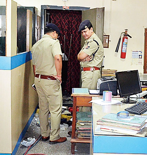 Siliguri Bagdogra Central Bank of India robbed