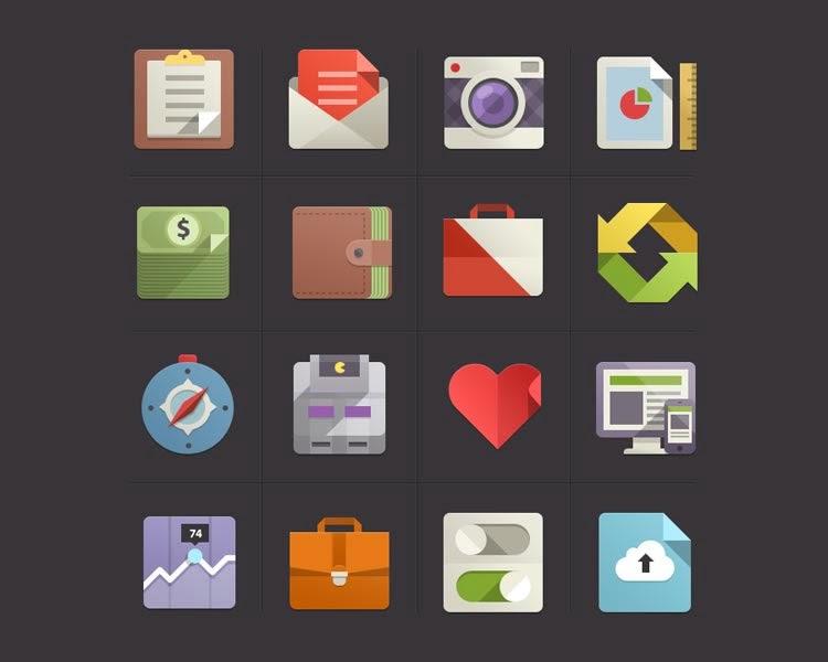 Flat design Icon Set vol.2
