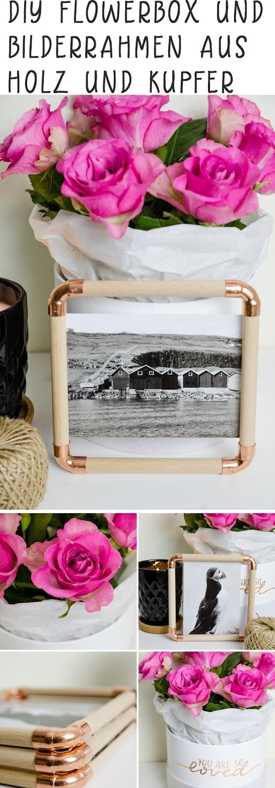 DIY Bilderrahmen aus Holz & Kupfer, eine Flowerbox und eine ...