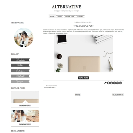 Alternative Blogger Template
