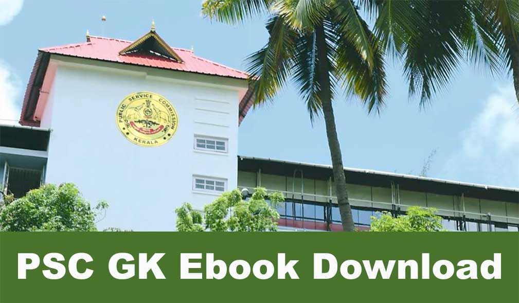 Kerala PSC Official GK Questions Ebook PDF Download