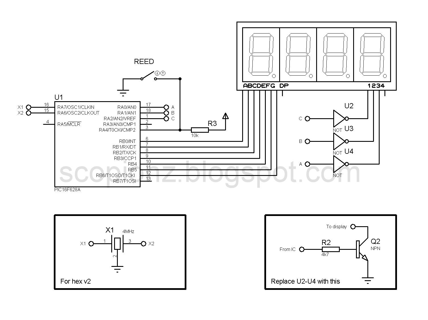 Digital Seven Segment Speedometer Circuit