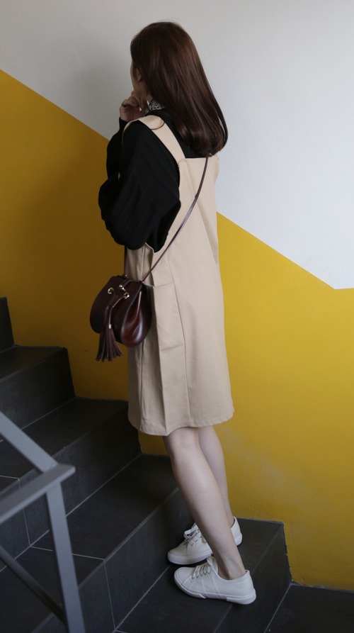 U-Neck Pinafore Dress