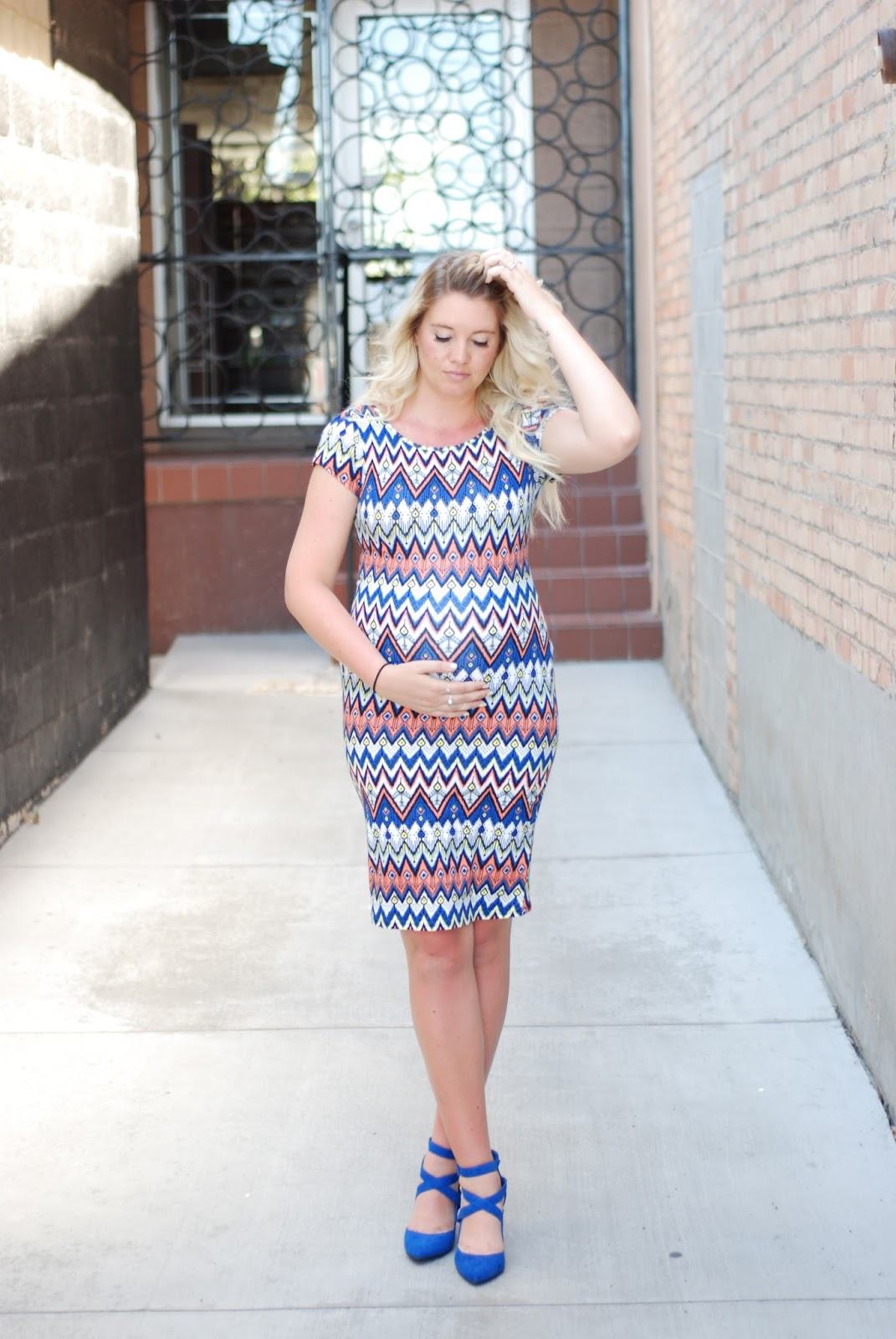 Cobalt Heels, Cents of Style, Pregnant Style