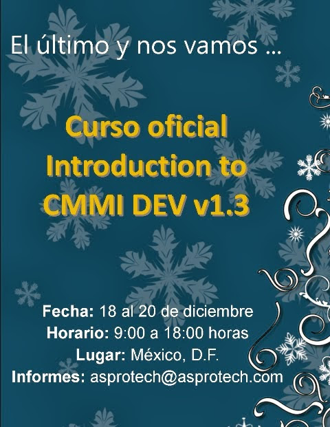 Qué significa CMMI: Curso Introduction to CMMI DEV