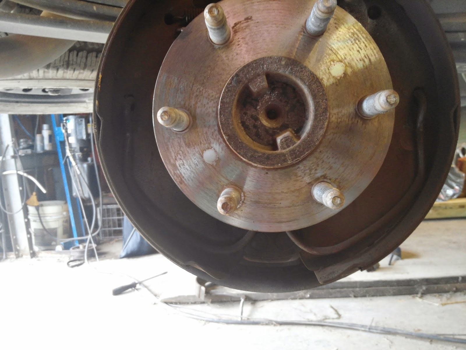 small resolution of in the picture below you will see one of the brake shoes on this application the whole apparatus is replaced when you purchase the new brake shoes