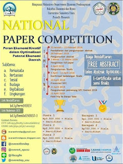 Lomba National Paper Competition Everest 2018 Untuk Mahasiswa by Univ. Sumatera Utara
