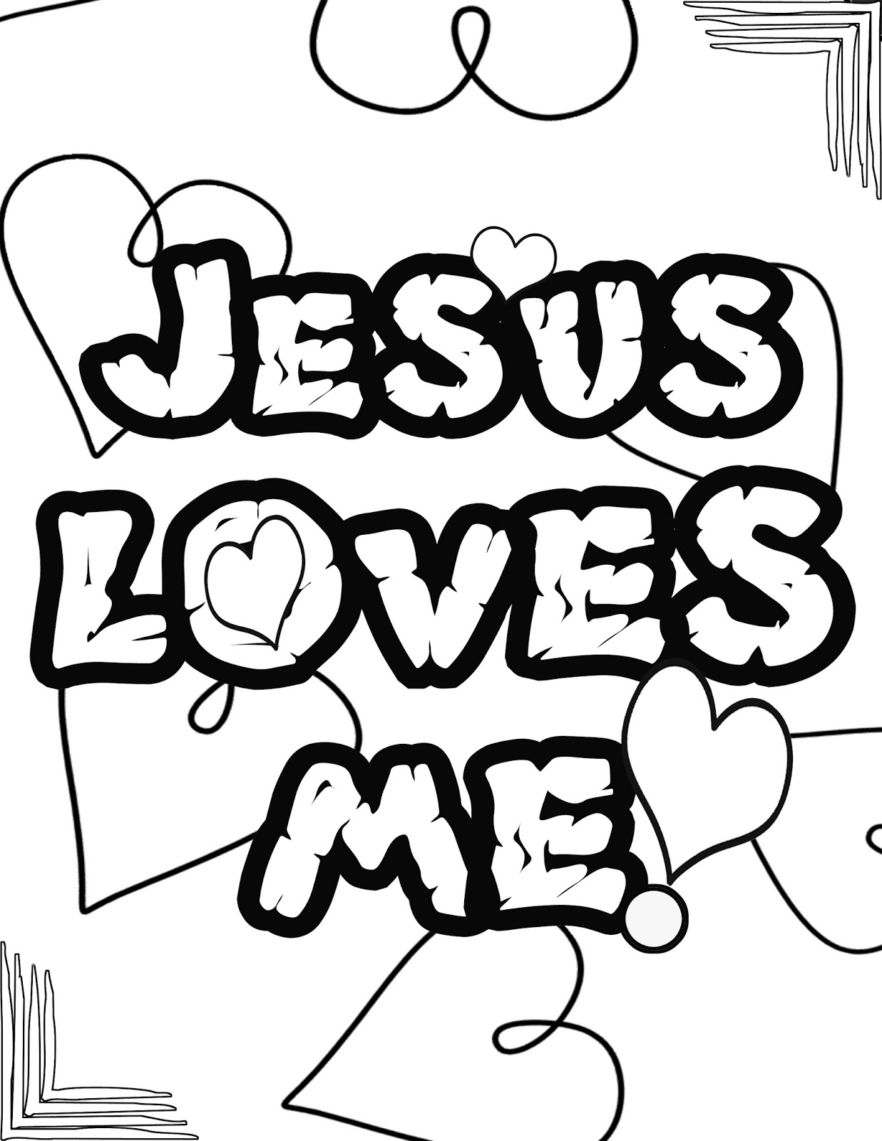 jesus loves you coloring pages - photo#9