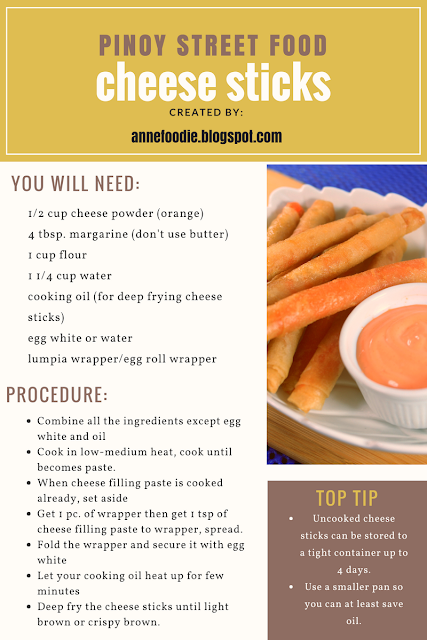 Infographics of making Pinoy Cheese Sticks