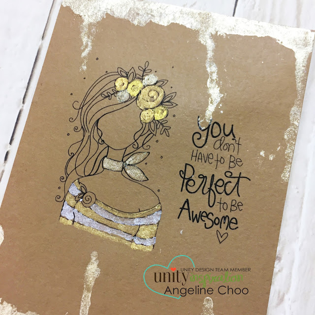 Unity Stamp Company: Inspiration Wednesday with Angeline #unitystampco #scrappyscrappy #plannergal #gansaitambi #starrycolors #card #cardmaking #planner #quicktipvideo #youtube