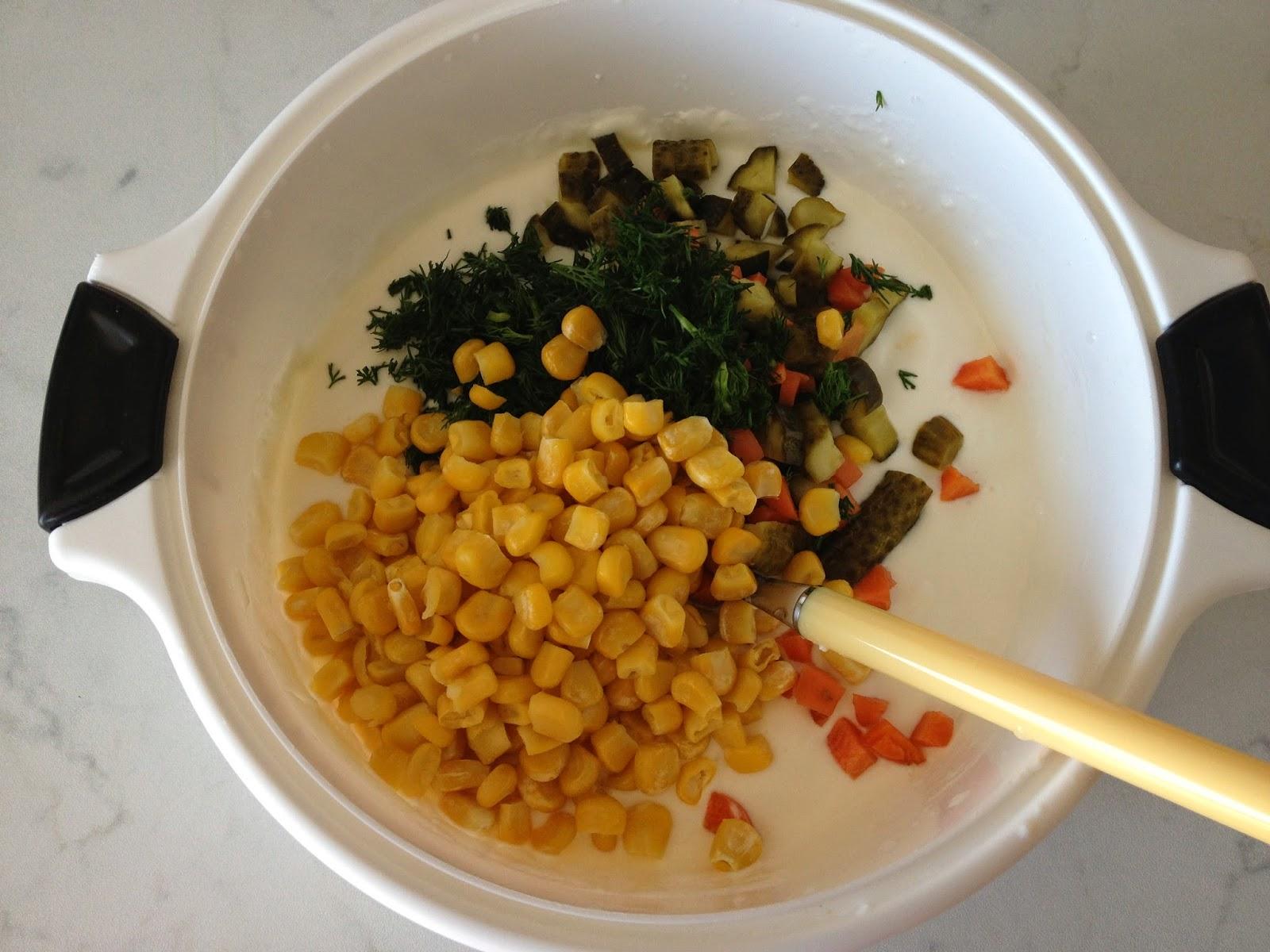 Labneli Makarna Salatası Tarifi