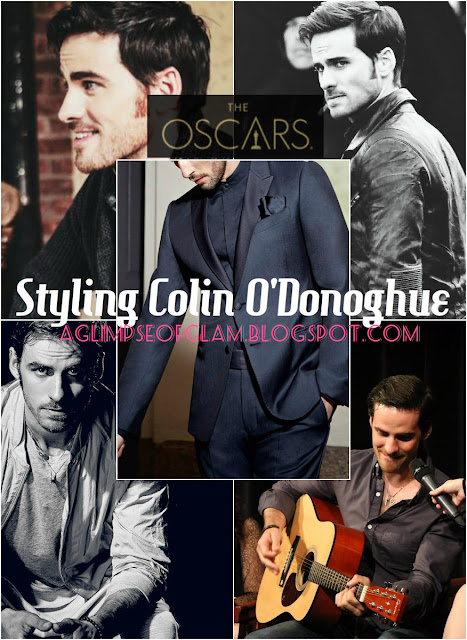 Oscars 2016 Styling Colin O'Donoghue Andrea Tiffany aglimpseofglam