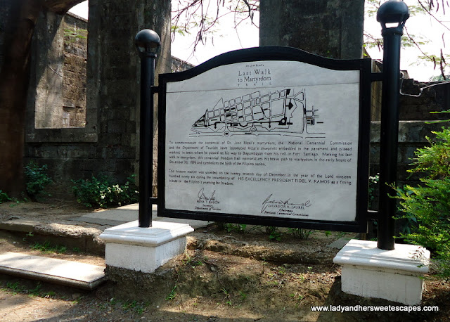 last-walk-to martyrdom of rizal at fort Santiago