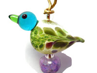 Handmade lampwork glass ornament