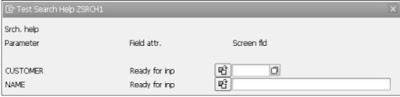 SAP ABAP - Search Help