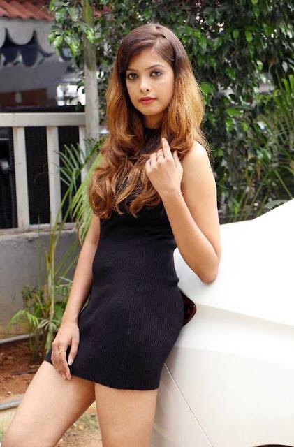 Srishti Vyakaranam Hot Photos at Black Dress