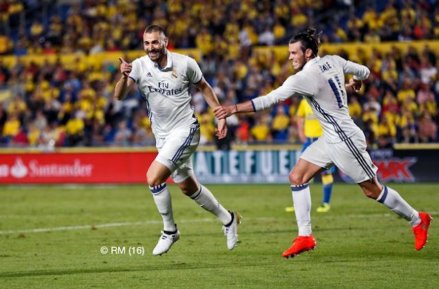 Goll kedua RM by Benzema kontra Las Palmas
