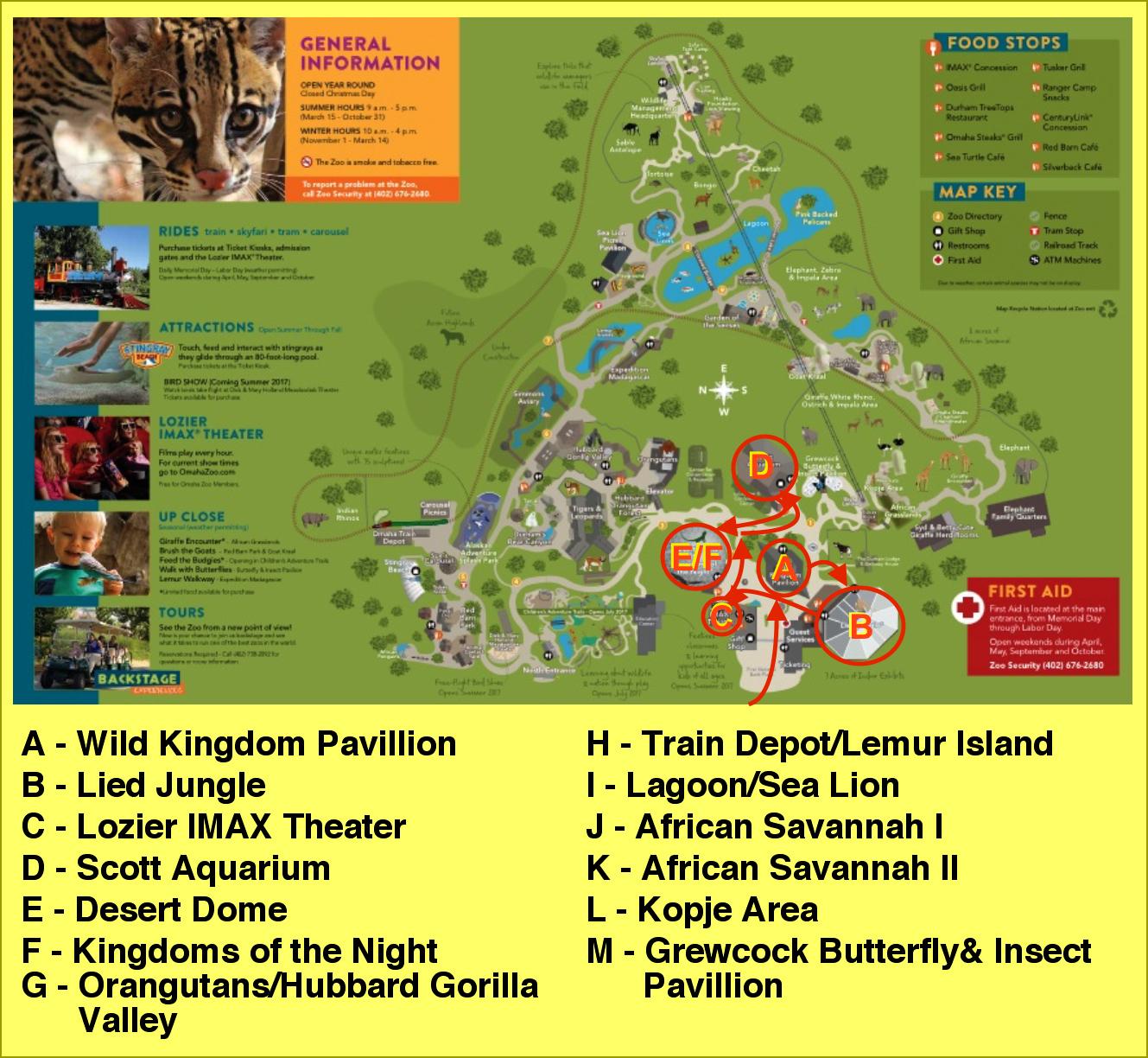 kansas city zoo, dallas texas zoo, omaha zoo, on henry doorly zoo map