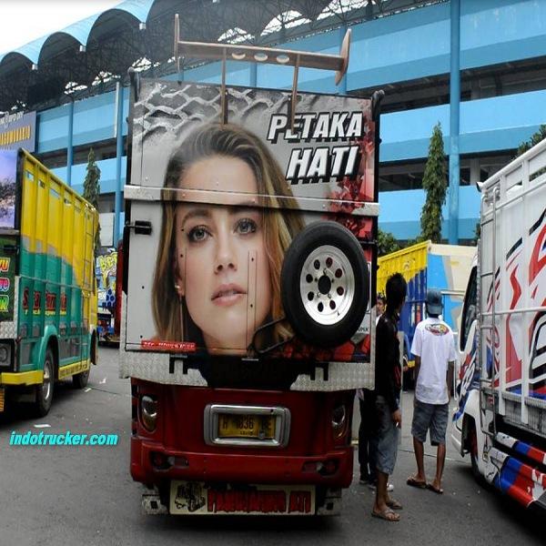 Gambar foto gambar full variasi truk canter terbaru modifikasi truk