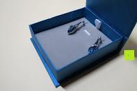 Box innen: OneChance Damen Ohrring Kollektion Blau Kristall Teardrop Ohrhänger