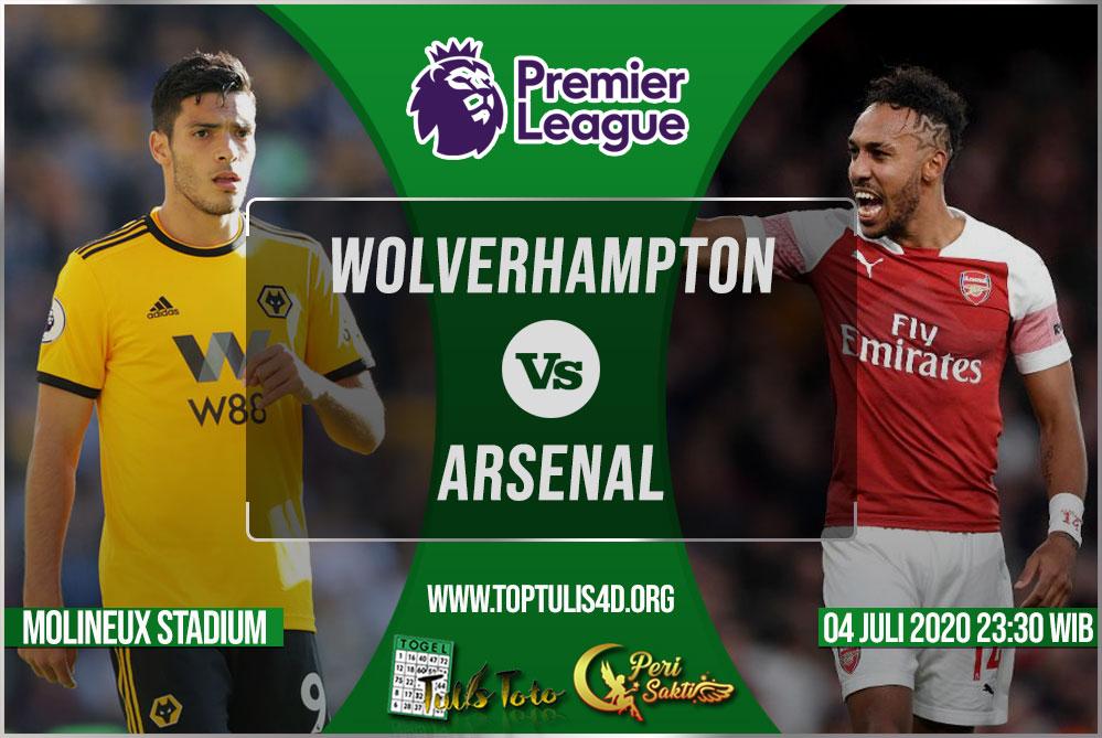 Prediksi Wolverhampton vs Arsenal 04 Juli 2020