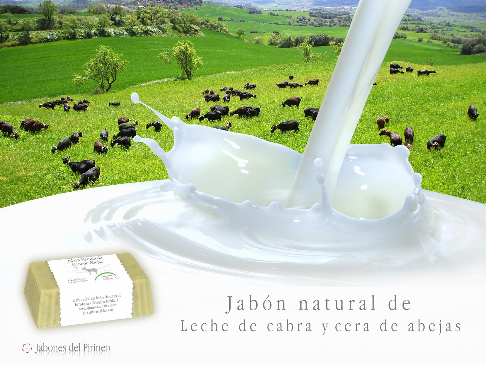 Jabón Natural de Leche de Cabra y Cera de Abejas