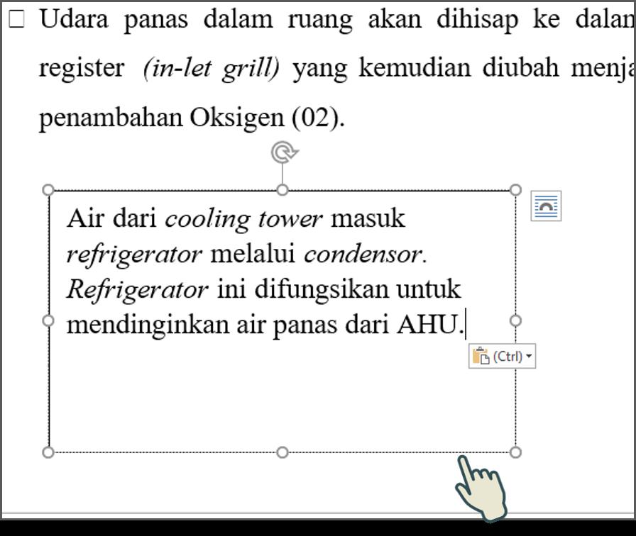 Menyisipkan Teks ke dalam Text Box