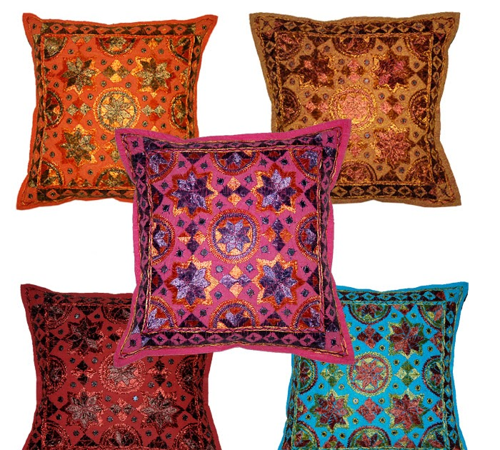 Free Shipping 40 40cm Chair Pad Cushion Pearl Cotton: Rajasthani Handmade Clothing , Home Furnishing