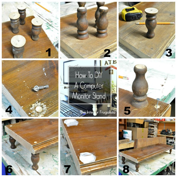 Eight steps to building a Computer Monitor Stand